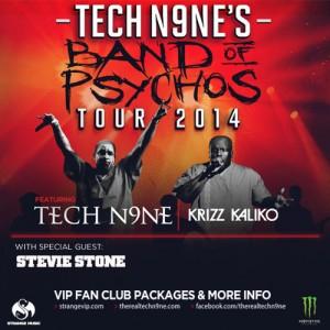 Tech N9ne Band of Psychos Tour 2014