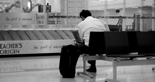 Waiting at the baggage claim