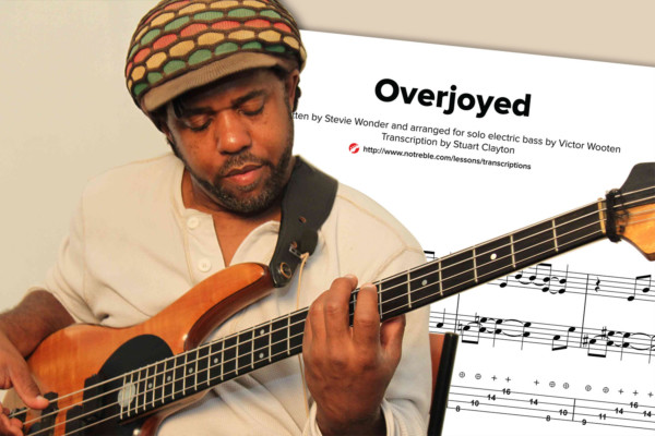 "Bass Transcription: ""Overjoyed"" by Victor Wooten"