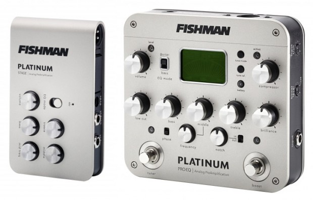 Fishman Platinum Stage and Platinum Pro EQ Acoustic Preamps