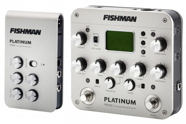Fishman Now Shipping Platinum Pro EQ and Platinum Stage Acoustic Preamps