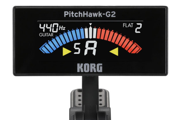 Korg Introduces PitchHawk G-2 Clip-On Tuner