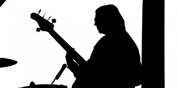 Bass Player in Silhouette