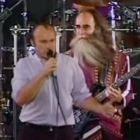 Phil Collins, with Leland Sklar: Sussudio, Live 1990