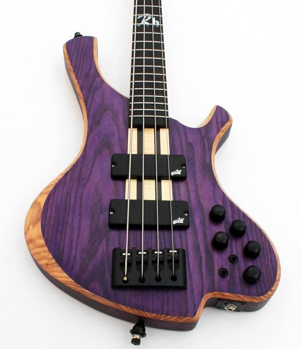 o3 Guitars Rhodium Purplehaze Bass Body 2