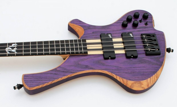 o3 Guitars Rhodium Purplehaze Bass Body
