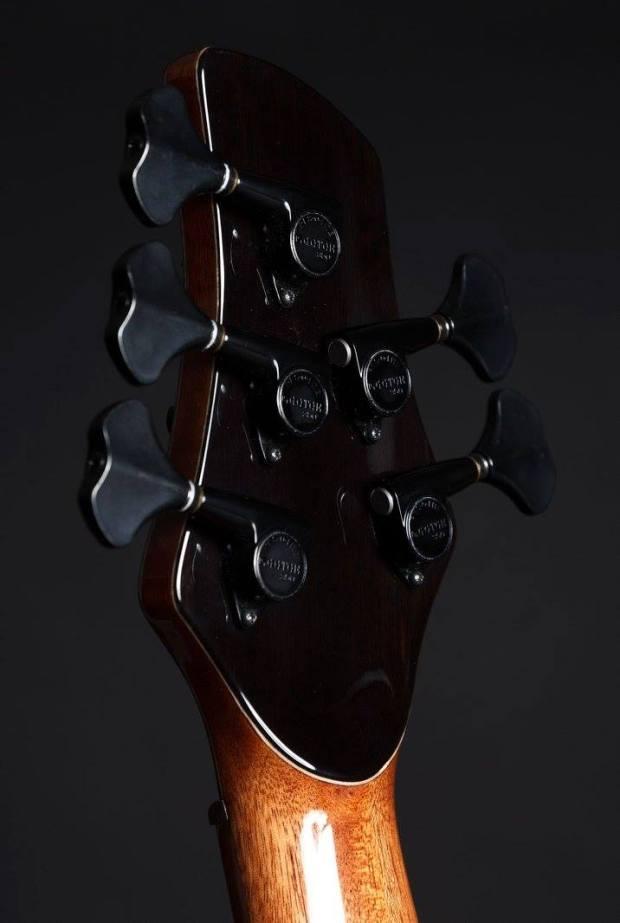 Martin Keith Guitars Elfin Hollowbody Bass Back of Headstock