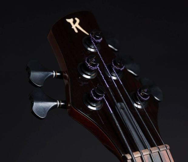 Martin Keith Guitars Elfin Hollowbody Bass Headstock