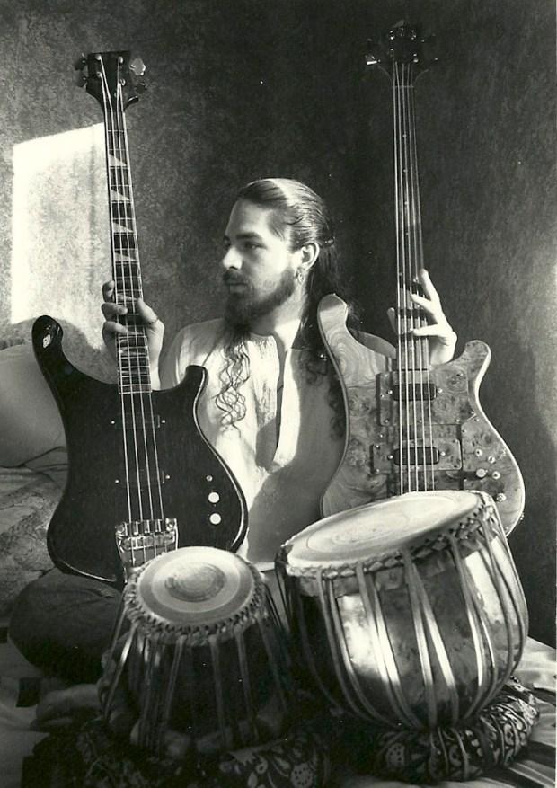 Jason Everett with Modified Rickenbacker 4001 Piccolo Sitar Bass
