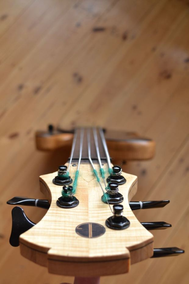 Joe Goldsmith Singlecut Headstock View