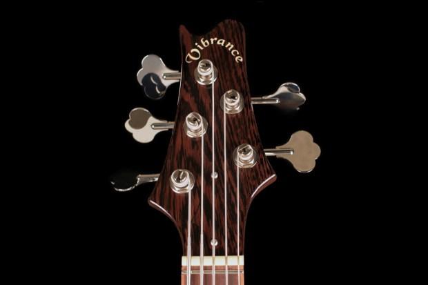 Vibrance Guitars Bass 5 Headstock