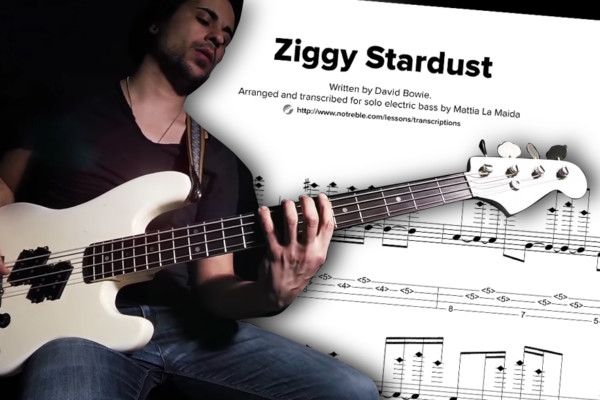 "Bass Transcription: Mattia La Maida's Solo Bass Arrangement on David Bowie's ""Ziggy Stardust"""