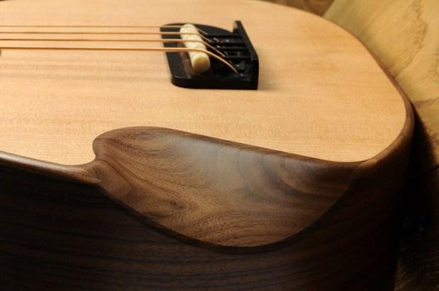Gillett Guitars Contour Bass Arm Recess