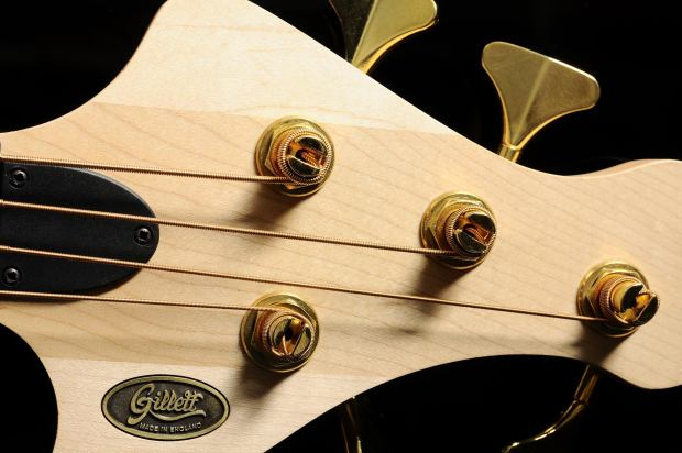 Gillett Guitars Contour Bass Headstock