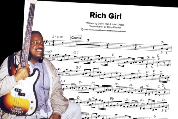 "Bass Transcription: Scotty Edwards's Bass Line on Hall & Oates's ""Rich Girl"""