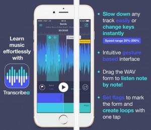 Transcribe+ App Screen