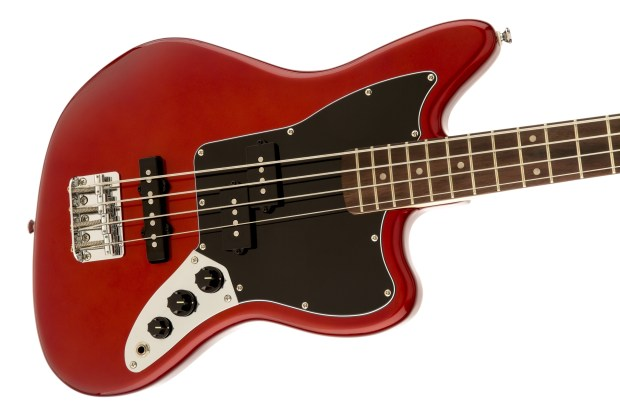 Squier Vintage Modified Jaguar Bass Special SS Red Body 2