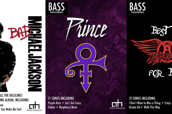 Aidan Hampson Transcribes Prince, MJ, and Aerosmith for Bass