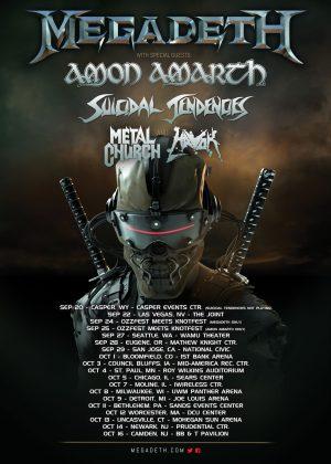 Megadeth 2016 Tour