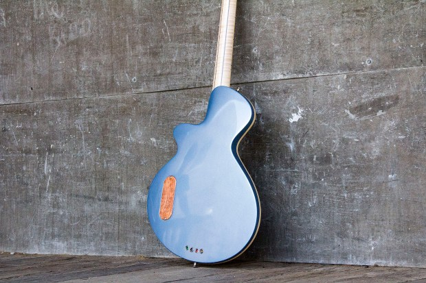 R. Hyde Guitars Long Scale Nuvo Bass Body Back