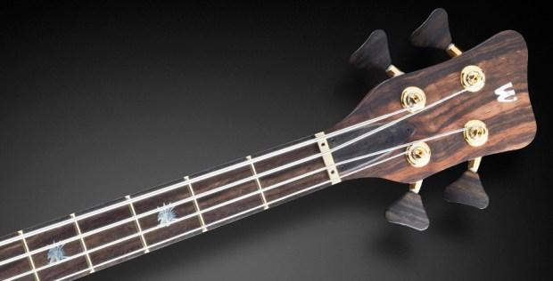 Warwick Custom Shop Masterbuilt - Streamer Stage II Macassar Ebony Bass Neck/Headstock
