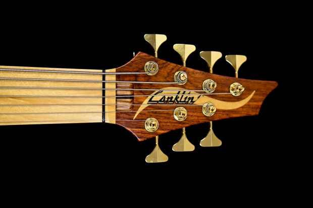 Conklin Guitars Jason Everett Signature OM Bass Headstock
