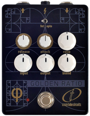 Crazy Tube Circuits Golden Ratio Phi Compressor Pedal