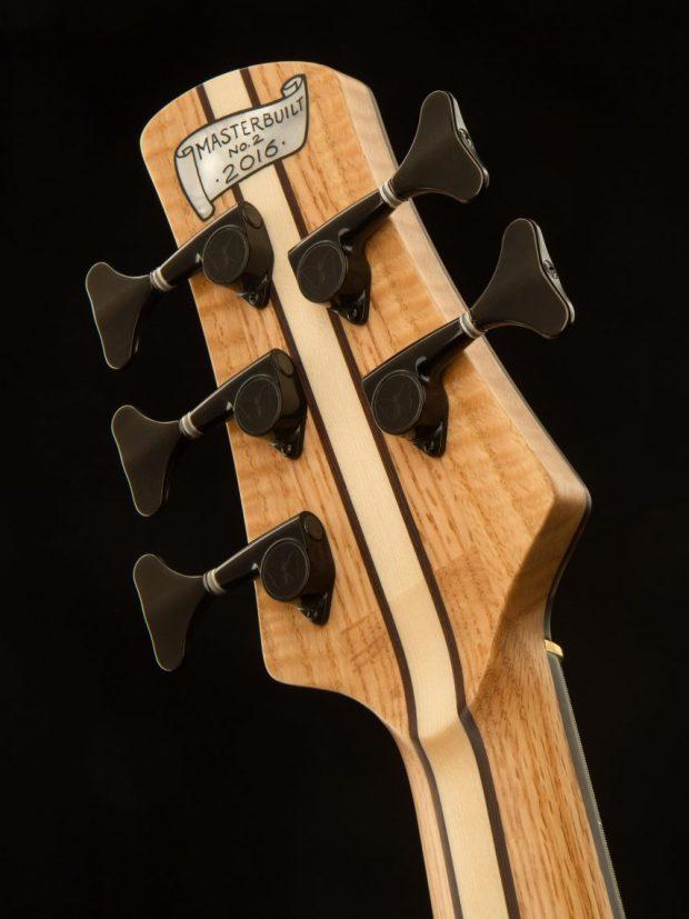 Fodera Masterbuilt Kestrel Bass Back of Headstock