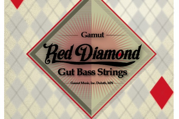 Gamut Music Announces Red Diamond Gut Double Bass Strings