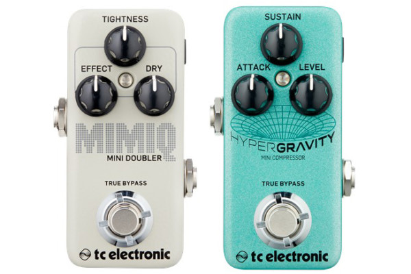 TC Electronic Introduces the HyperGravity Mini Compressor and Mimiq Mini Doubler Pedals