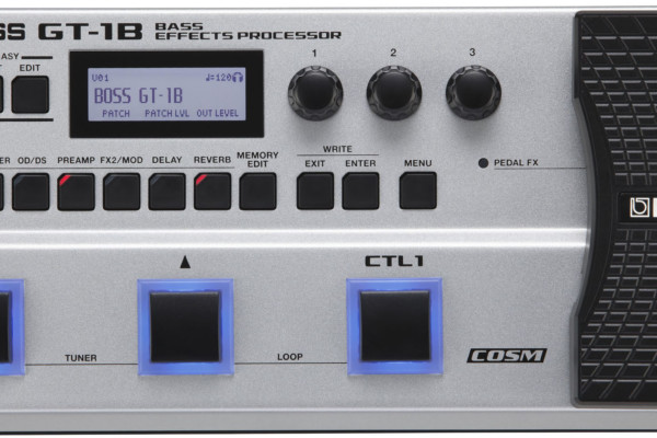 Boss Introduces the GT-1B Bass Effects Processor