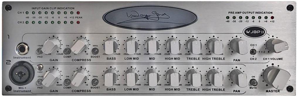 Wayne Jones Audio WJBPII Twin Channel Bass Preamp
