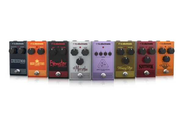 TC Electronic Unveils 8 New Analog Pedals