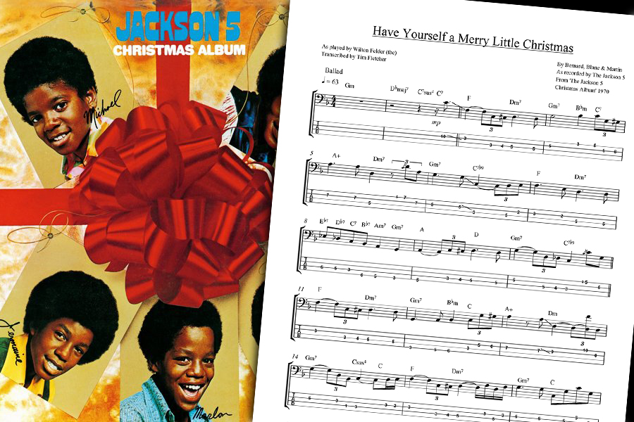 Have Yourself A Merry Little Christmas Lead Sheet.Bass Transcription The Jackson 5 S Have Yourself A Merry