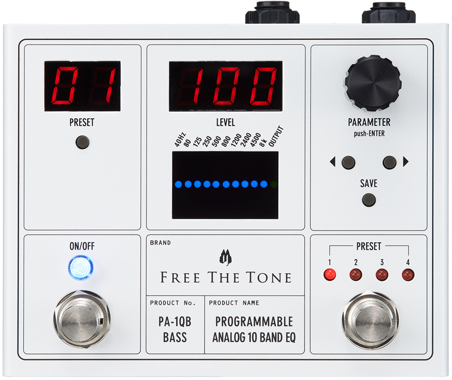 Free the Tone PA-1QB Programmable 10-Band EQ Pedal