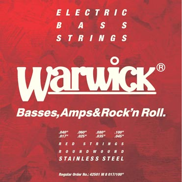 Warwick Introduces Red Series Strings for 8-String Basses
