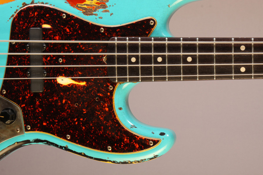 Moonshine Custom Guitars Rat Rod J Bass Closeup