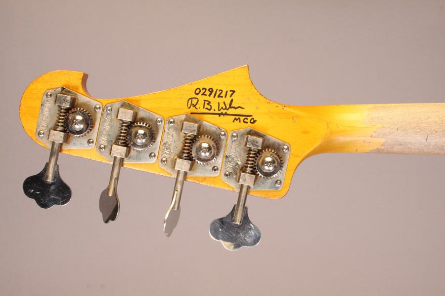 Moonshine Custom Guitars Rat Rod J Bass Headstock Back