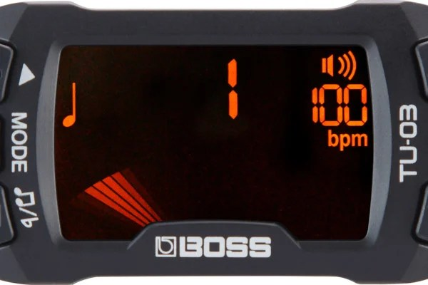 Boss Introduces TU-03 Clip-On Tuner and Metronome