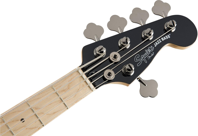 Squier Contemporary Active Jazz Bass V Black Headstock