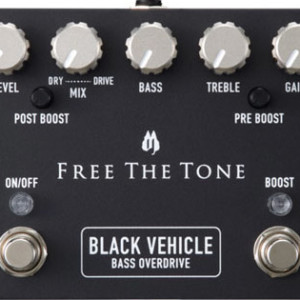 Free The Tone Introduces the Black Vehicle Bass Overdrive Pedal