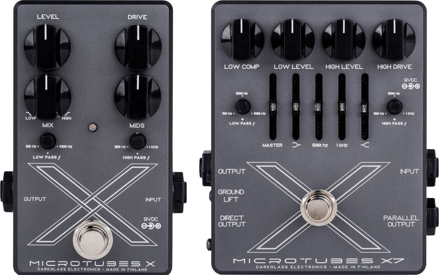 Darkglass Electronics Microtubes X and X7 Pedals