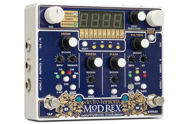Electro-Harmonix Announces the Mod Rex Polyrhythmic Modulator Pedal