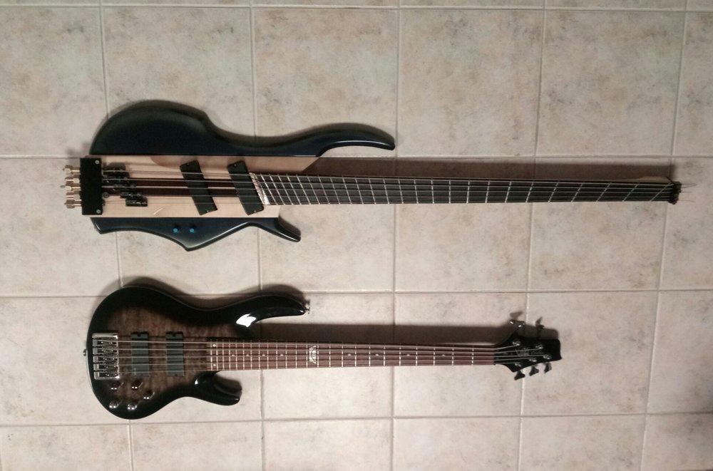 XTRM Basses The Bass of Navarone on Tile Comparison