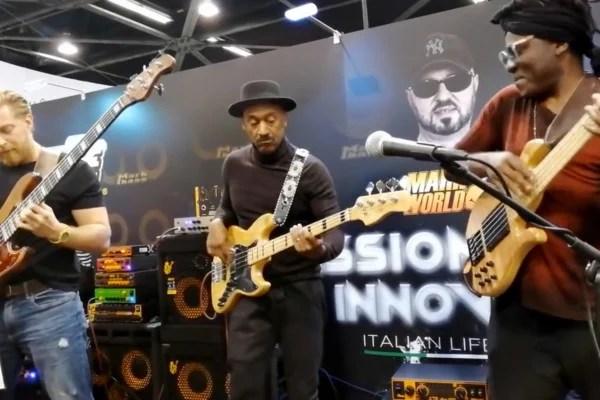 Marcus Miller, Richard Bona and Hadrien Feraud: NAMM 2019 Jam