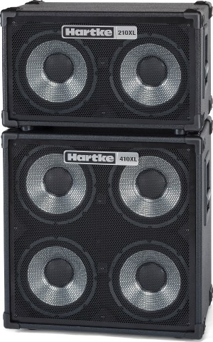 Hartke 210XL and 410XL Bass Cabinet Stack