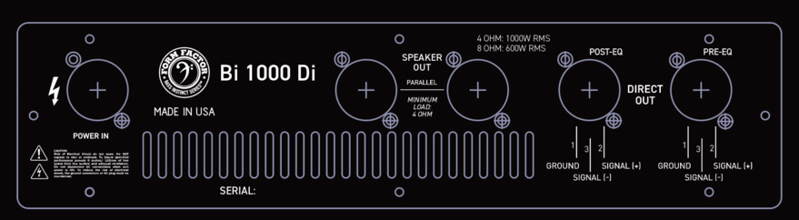 Form Factor Audio Bi1000Di Back Diagram