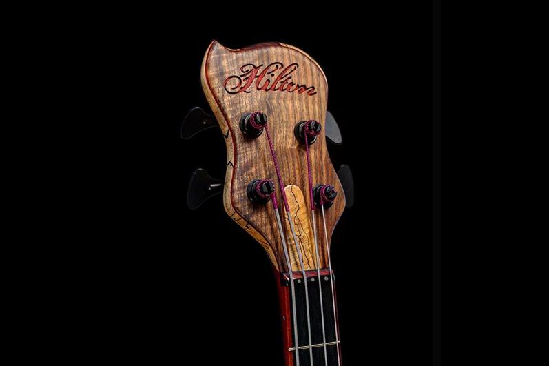 Hilton Guitars Bass Headstock