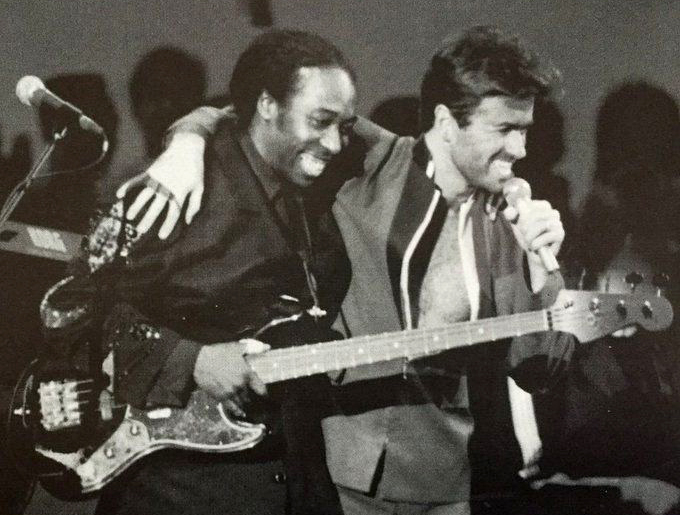 Deon Estus with George Michael