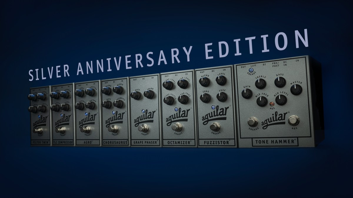Aguilar Amplification Silver Anniversary Limited Edition Pedals